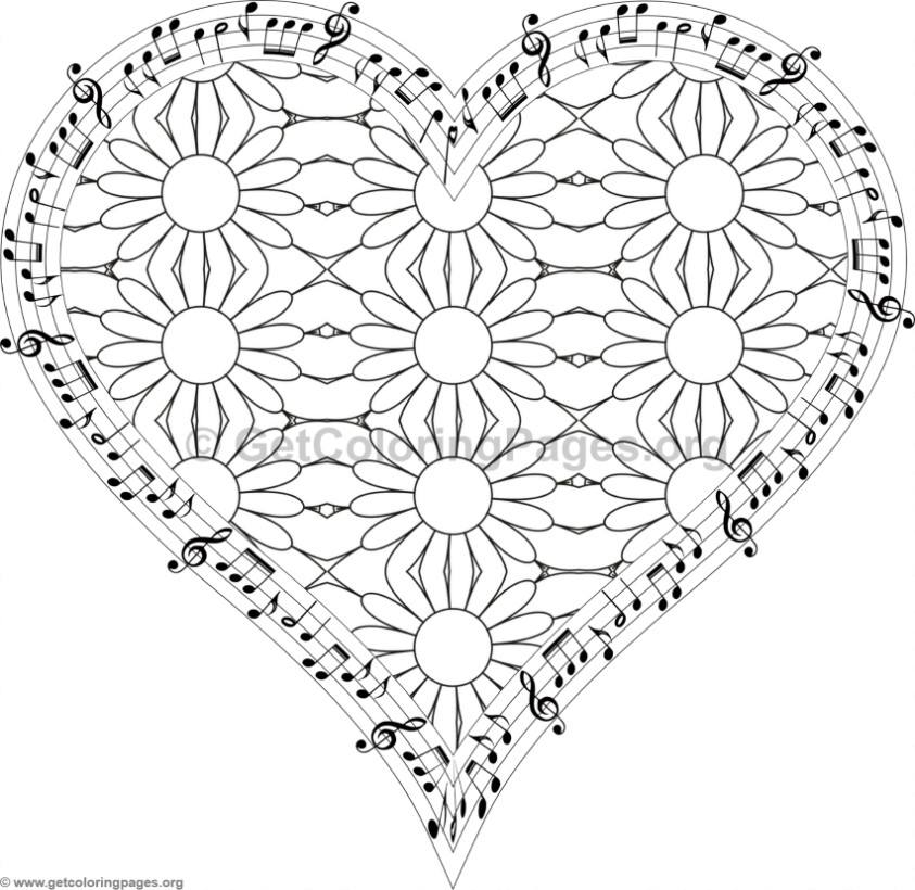 Musical Heart Coloring Pages 2 GetColoringPagesorg