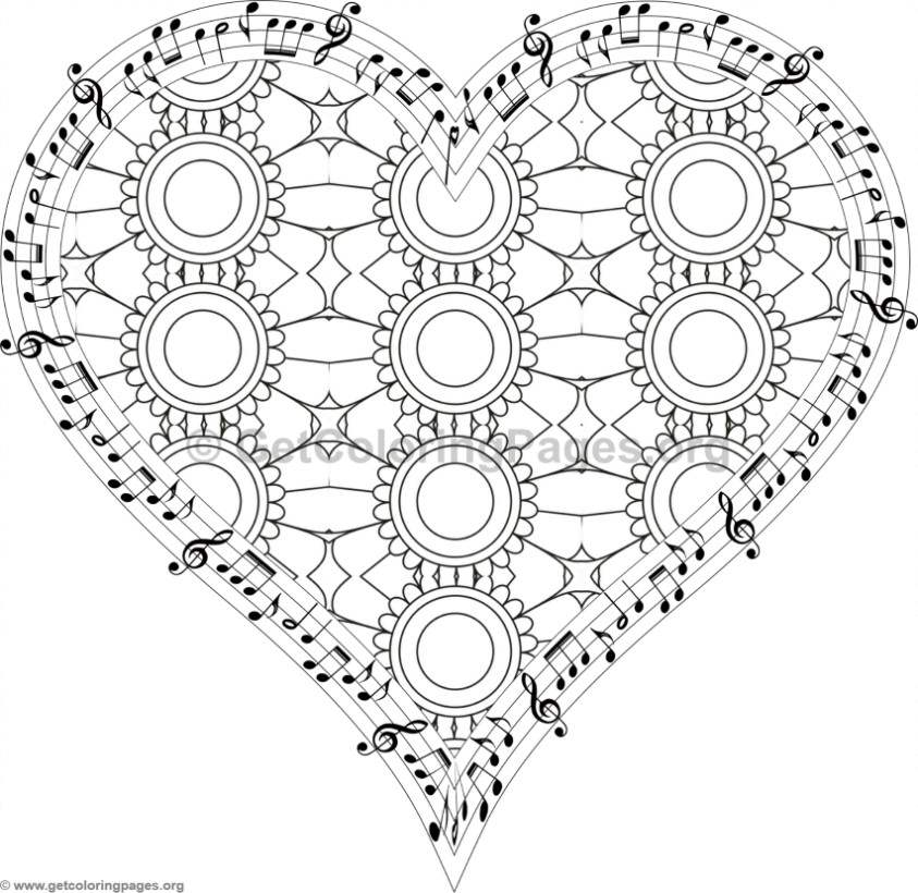 Musical Heart Coloring Pages 5