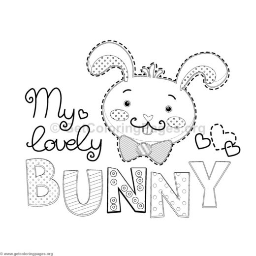 My Lovely Bunny Coloring Pages