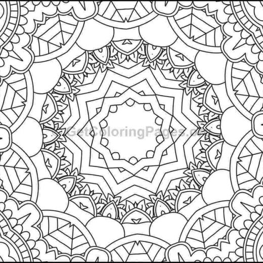 mosaic pattern coloring pages 3 - Mosaic Coloring Book