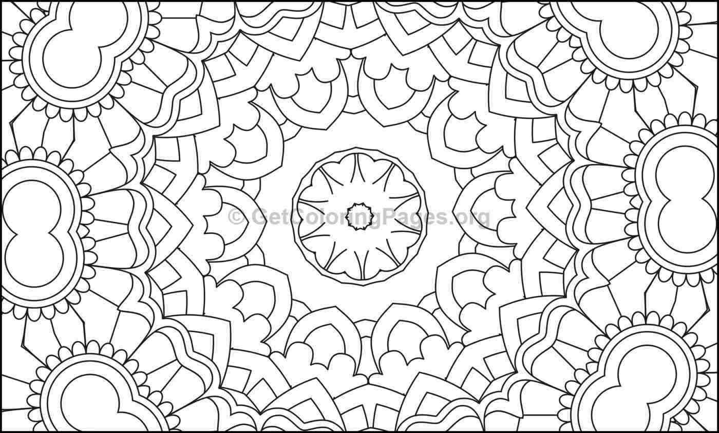 Mosaic Pattern Coloring Pages #5