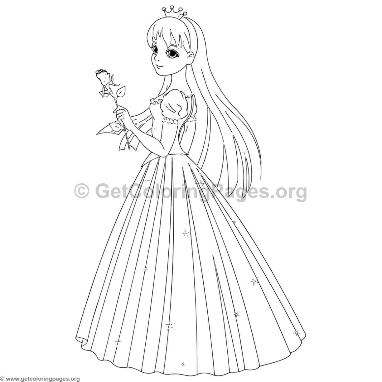 Princess Coloring Pages 2