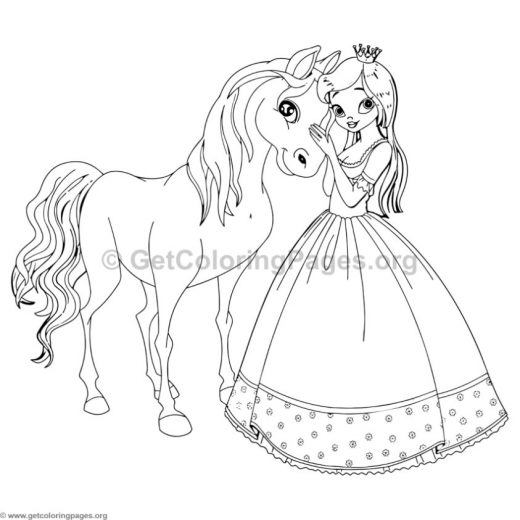 Princess Coloring Pages 4