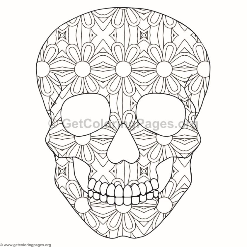 Skull Coloring Pages 4 GetColoringPages