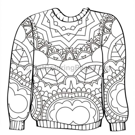 ugly sweater coloring pages 3