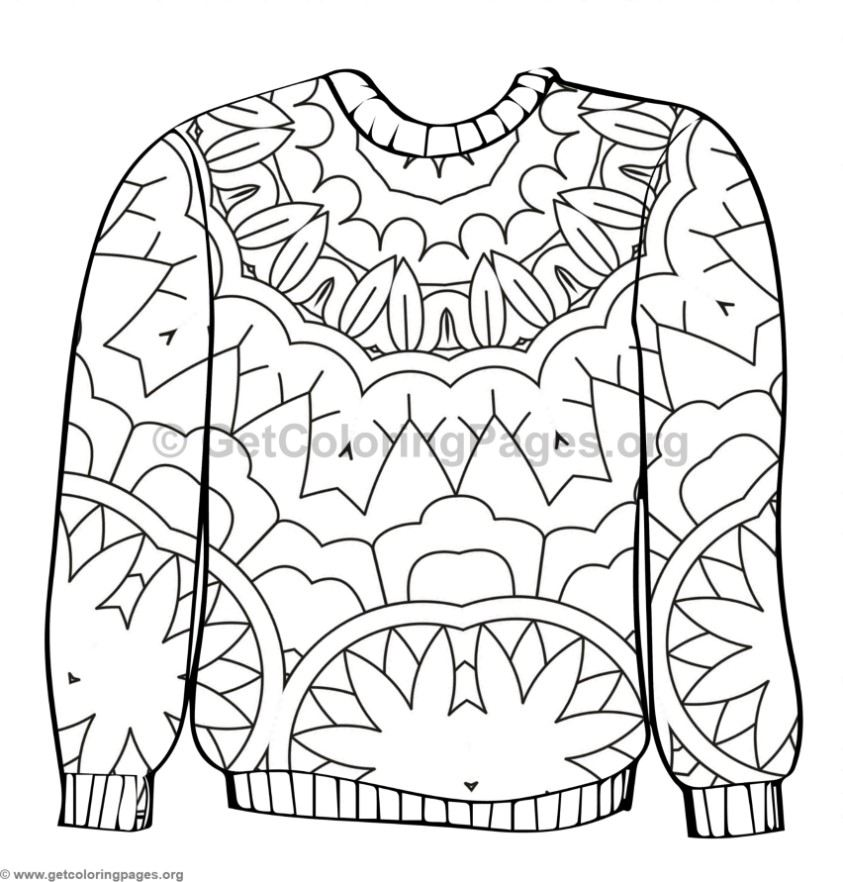 Ugly Sweater Coloring Pages 6 Getcoloringpages Org