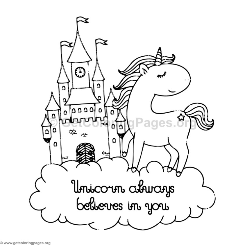 Unicorn Animal Coloring Pages 1