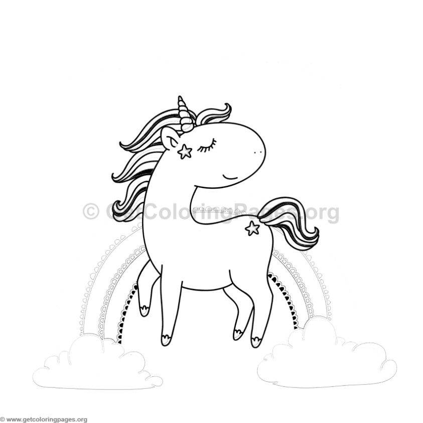 Unicorn Animal Coloring Pages 3