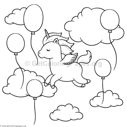 unicorn animal coloring pages 4