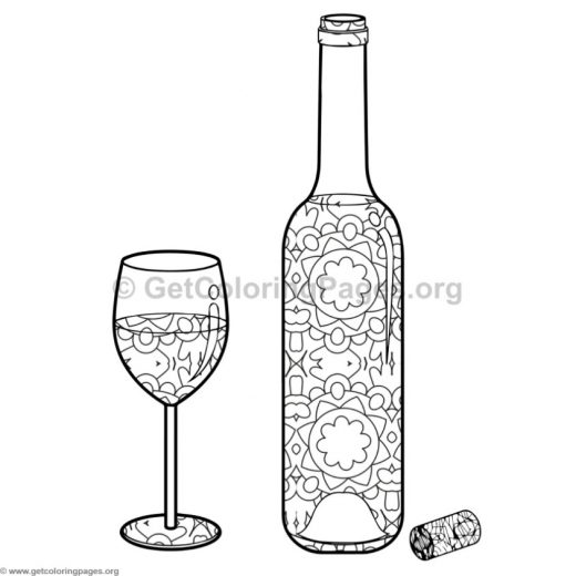 Juice glass free colouring pages for How to color wine bottles