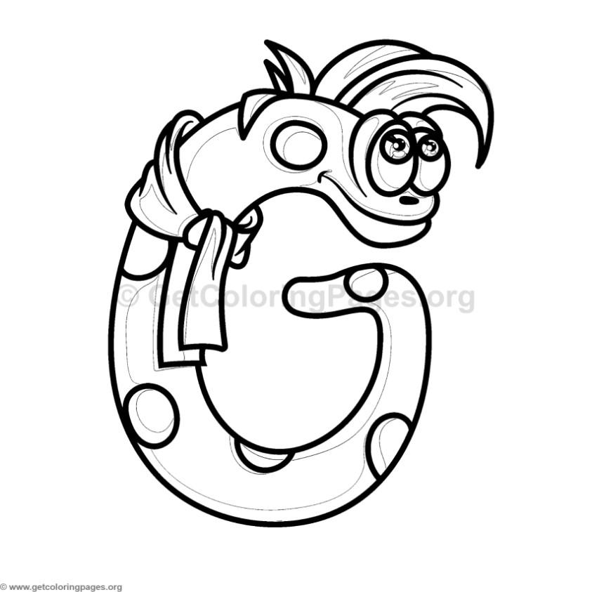Cute Monster Alphabet Coloring Pages Letter G
