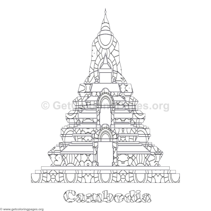 World Landmarks Coloring Pages 2 GetColoringPages
