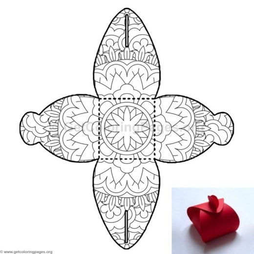Candy Box Coloring Pages 10