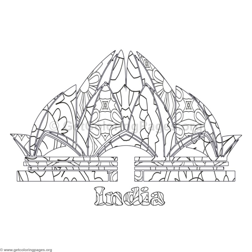 World Landmarks Coloring Pages