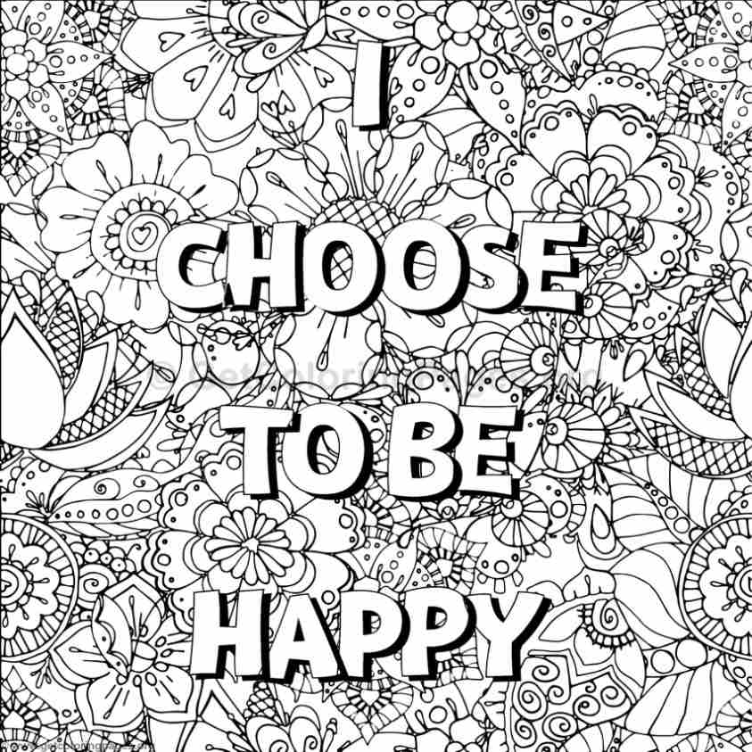 Inspirational word coloring pages 1 Inspirational quotes coloring book for adults