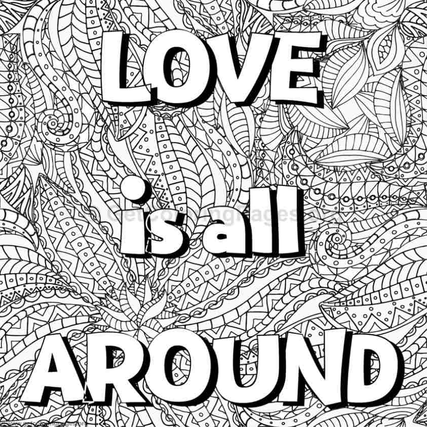 Inspirational Word Coloring Pages #10 - GetColoringPages.org