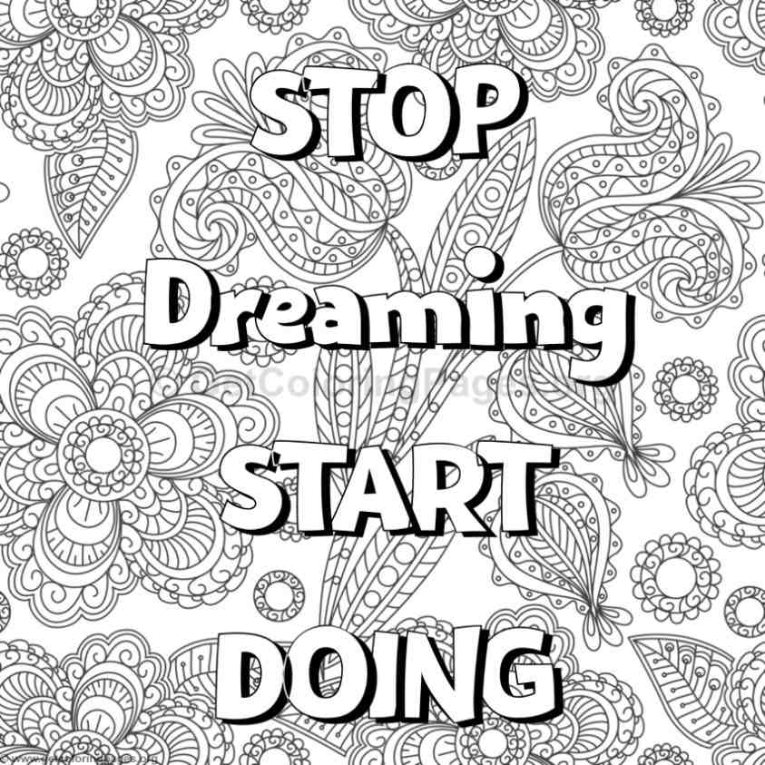 Inspirational Word Coloring Pages 48 Getcoloringpages Org