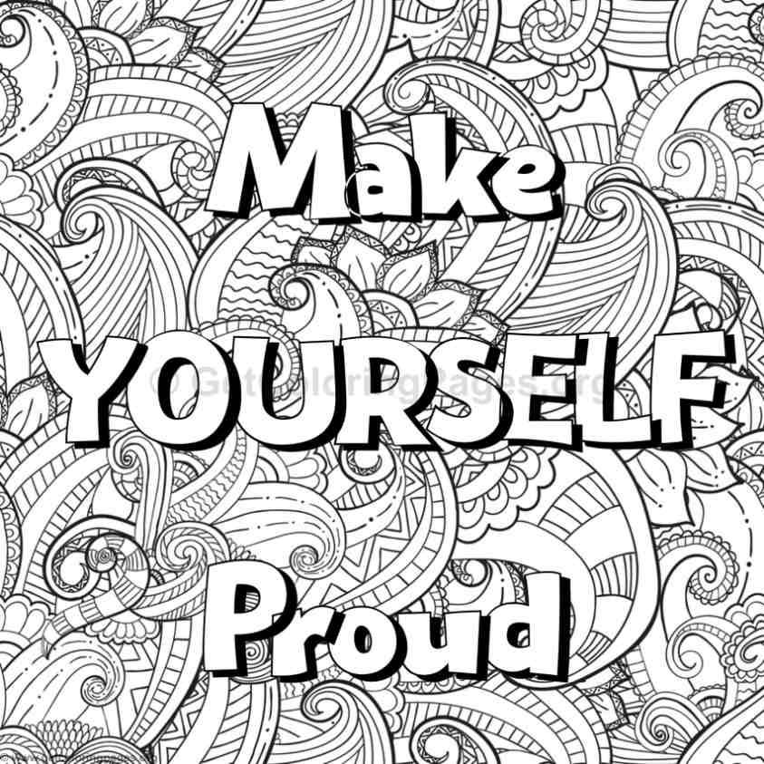 Inspirational word coloring pages 51 for Inspirational adult coloring pages