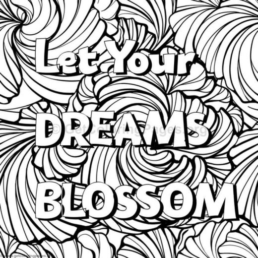Inspirational Word Coloring Pages 25 GetColoringPagesorg