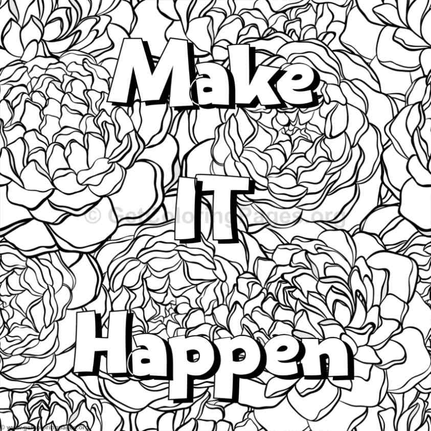 Inspirational Word Coloring Pages 54 Getcoloringpages Org