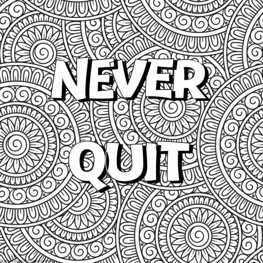 Inspirational word coloring pages 56 for Positive quotes coloring pages