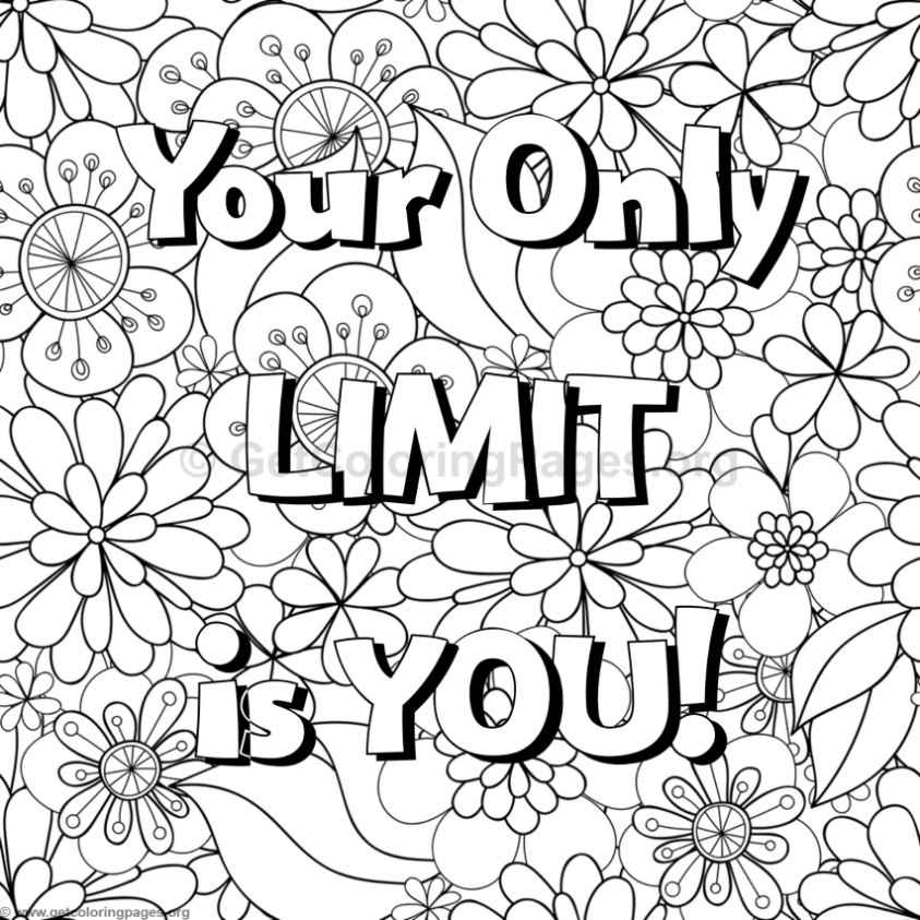 fun quote coloring pages inspirational word coloring