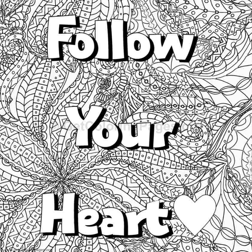 inspirational word coloring pages 7 - Inspirational Word Coloring Pages