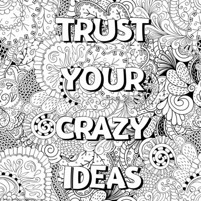 Inspirational Word Coloring Pages 71 GetColoringPages