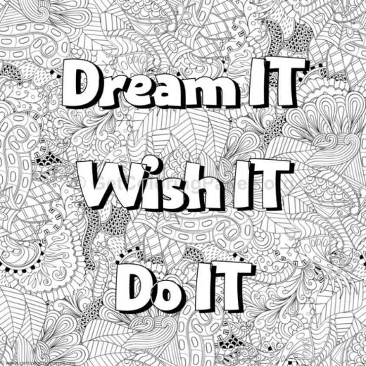 Inspirational Word Coloring Pages 72