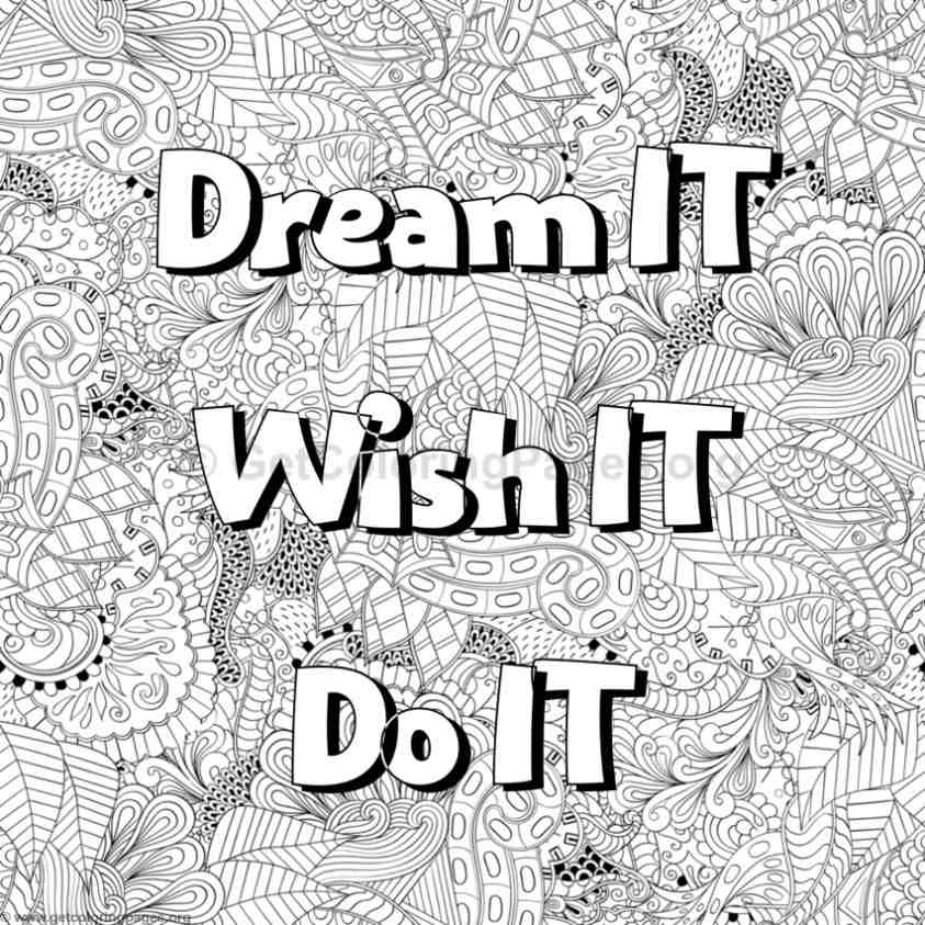 Inspirational Word Coloring Pages 72 GetColoringPages