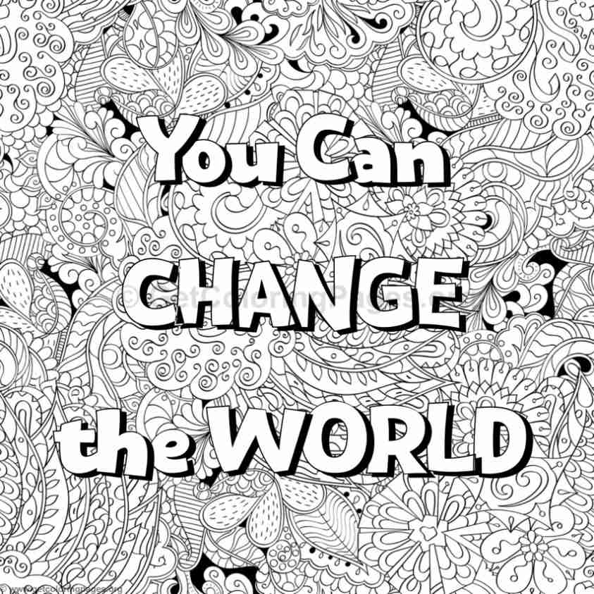Inspirational Word Coloring Pages #74 - GetColoringPages.org