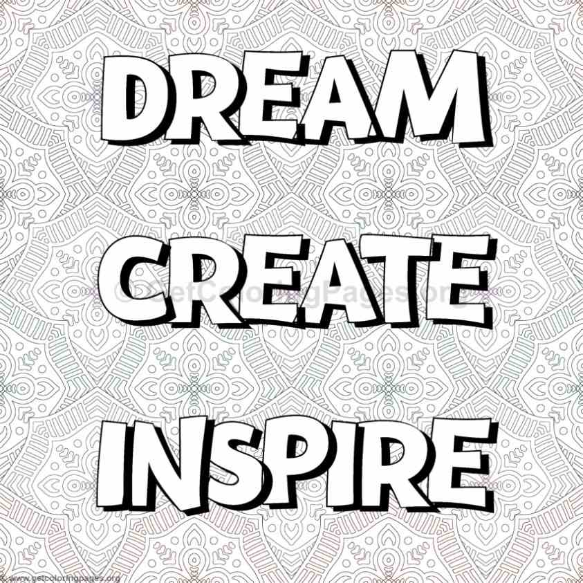 Inspirational Word Coloring Pages