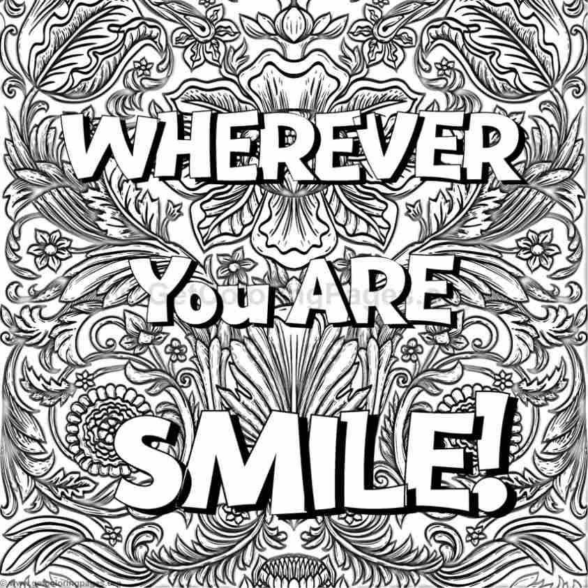 Inspirational Word Coloring Pages #20 GetColoringPages org