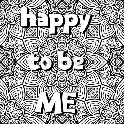 Inspirational Word Coloring Pages 24