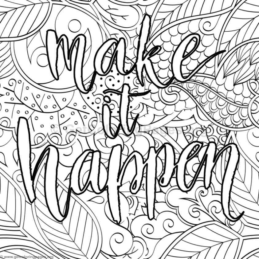 Inspirational word coloring pages 34 Inspirational quotes coloring book for adults