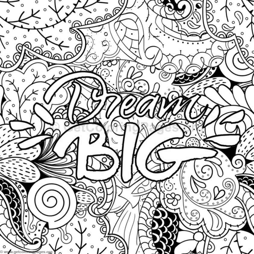 Inspirational word coloring pages 35 Inspirational quotes coloring book for adults