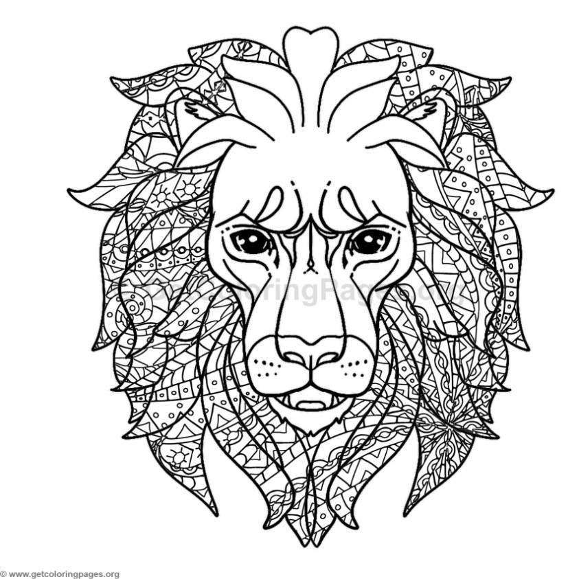 Lion Head Coloring Pages – GetColoringPages.orgLion Head Coloring Pages For Adults
