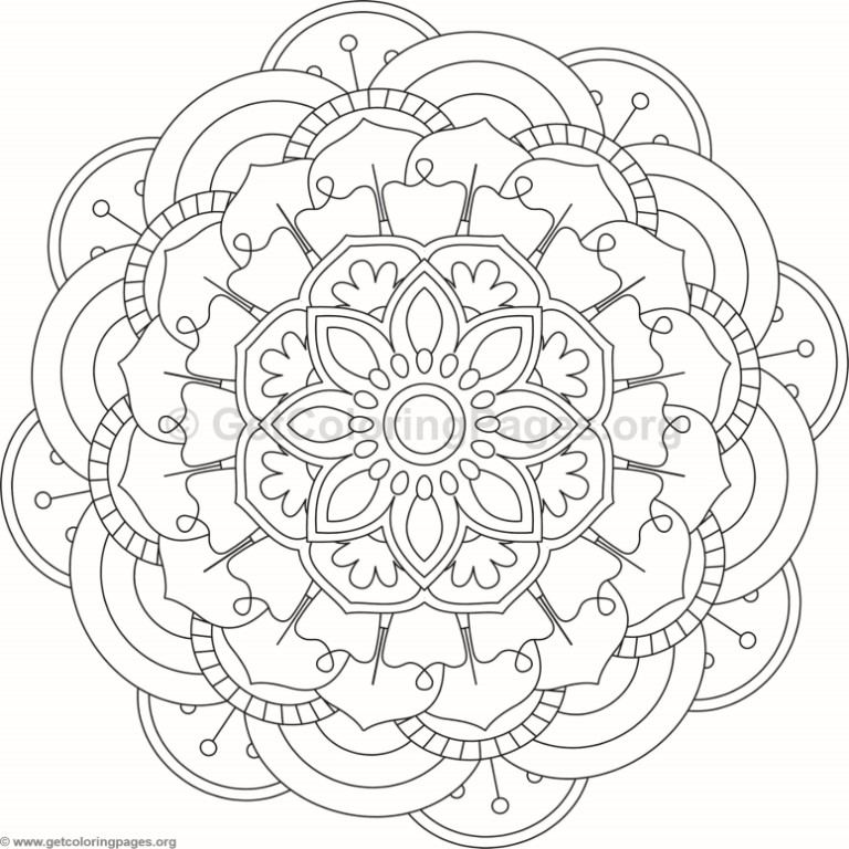 Flower Mandala Coloring Pages #106 – GetColoringPages.org