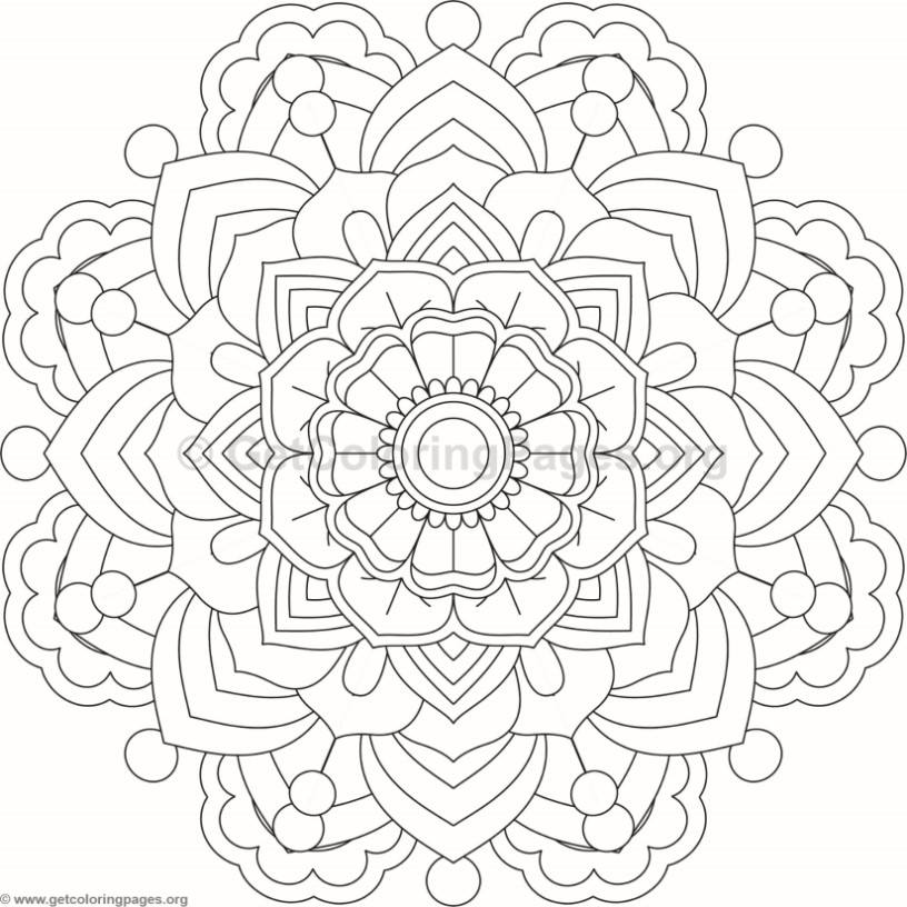 Flower Mandala Coloring Pages #107 – GetColoringPages.org