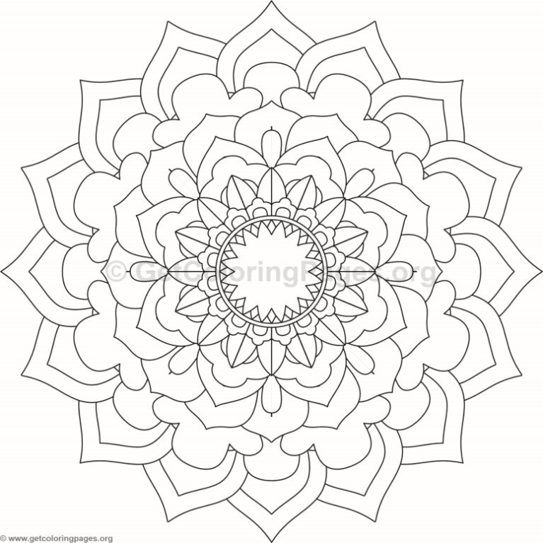 Flower Mandala Coloring Pages #113 – GetColoringPages.org
