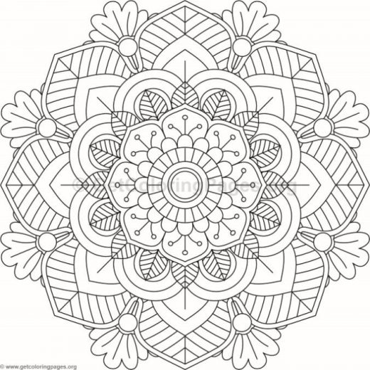 Flower Mandala Coloring Pages 2