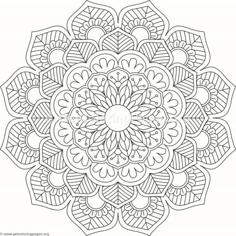 Flower Mandala Coloring Pages 157