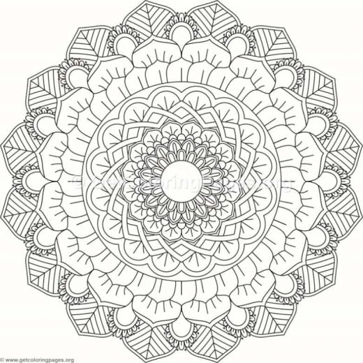 Flower Mandala Coloring Pages 160