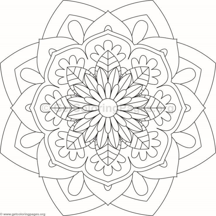 Flower mandala coloring pages 84 for Flower mandala coloring pages for adults