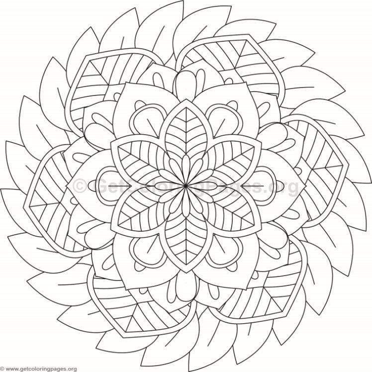Flower Mandala Coloring Pages 92 Getcoloringpages Org