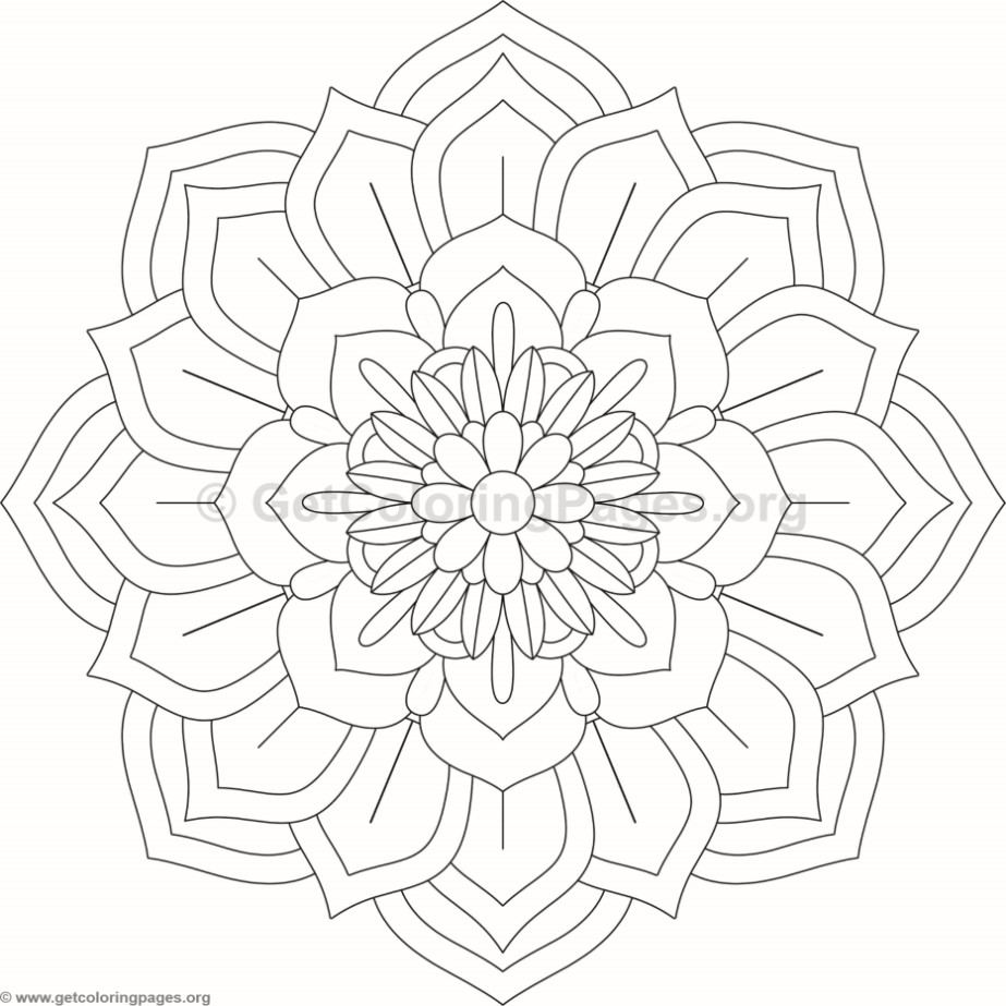 Flower Mandala Coloring Pages #98 – GetColoringPages.org