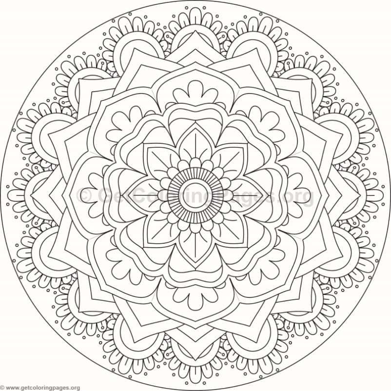 Flower Mandala Coloring Pages 99