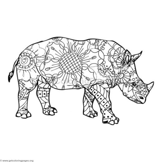 rhino coloring pages printable – GetColoringPages.org