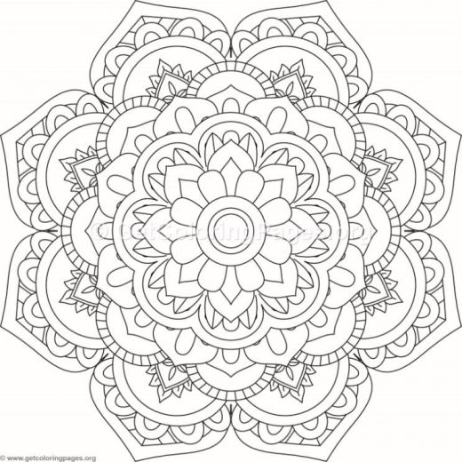 Flower Mandala Coloring Pages Getcoloringpages Com Flower