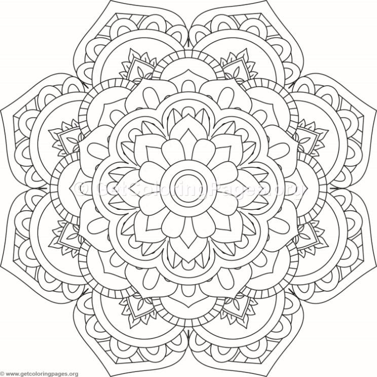 Flower Mandala Coloring Pages #200 – GetColoringPages.org